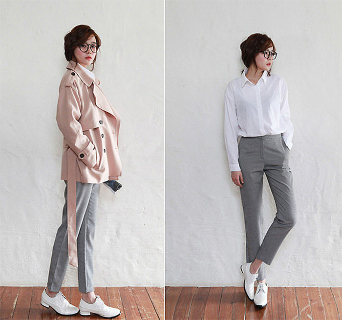 http://lookbook.nu/look/6570838-Apricot-Color-Trench-Coat-White-Shirts-Gray