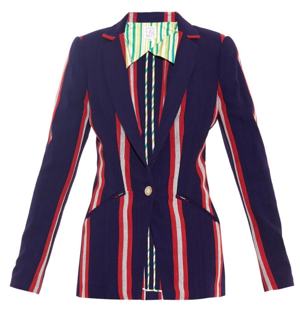 Stella Jean  Gazza striped cotton blazer