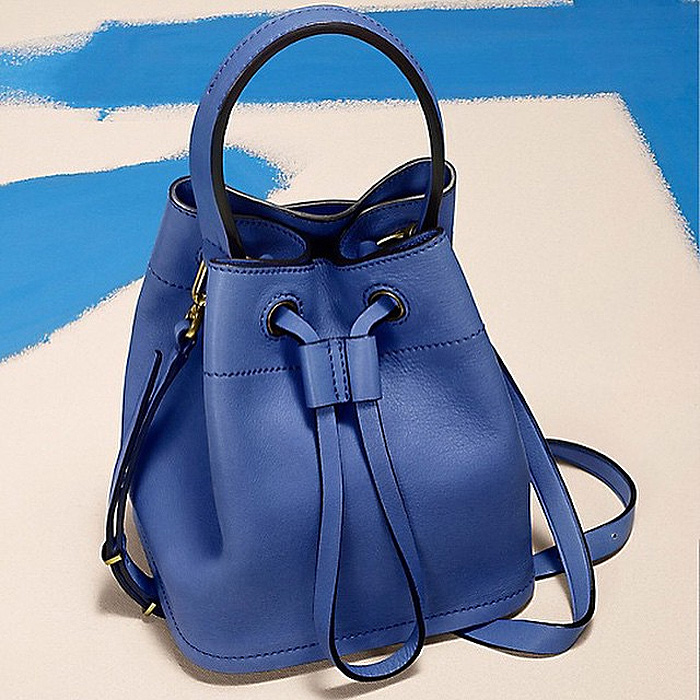 Tory Burch electric blue bucket bag