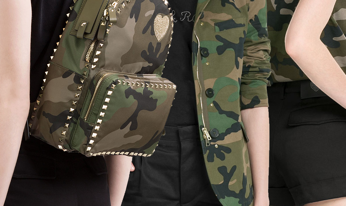 Valentino camouflage bag jacket top sneakers jumpsuit