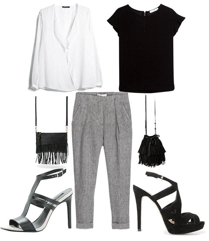What color shirt goes with gray pants my fashion wants for Shirts that go with black jeans