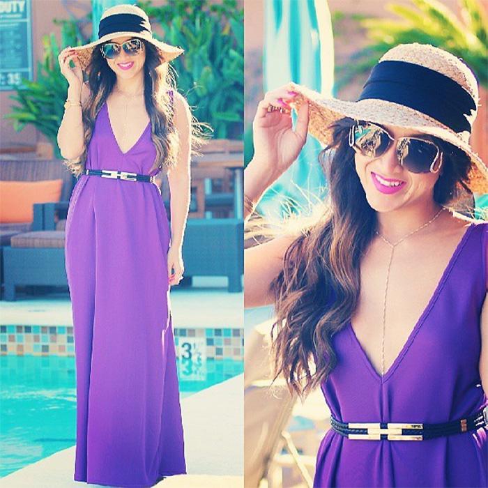 ktr collection purple maxi dress