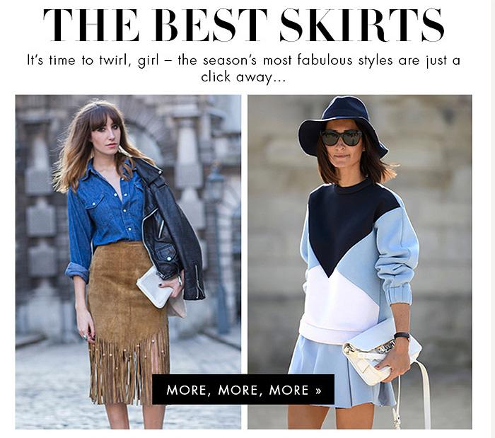mytheresa best summer skirts ever