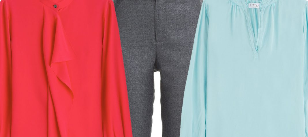 what color shirt to wear with gray pants