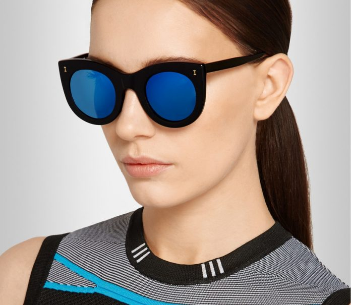 Illesteva Boca cat-eye acetate mirrored sunglasses