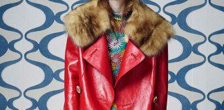 Marni Resort 2016 red Embellished Leather Duster Coat