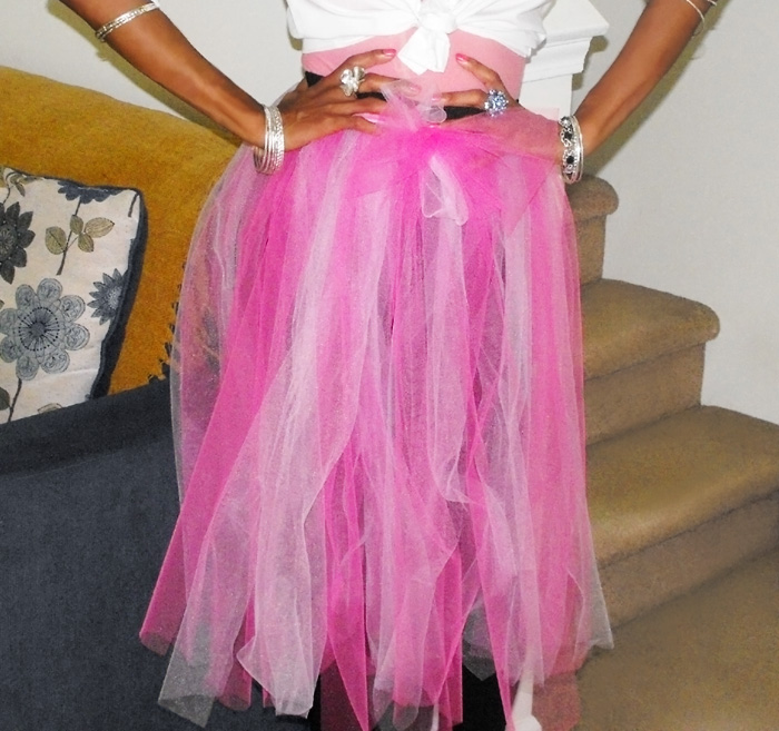 Pink DIY Tulle skirt