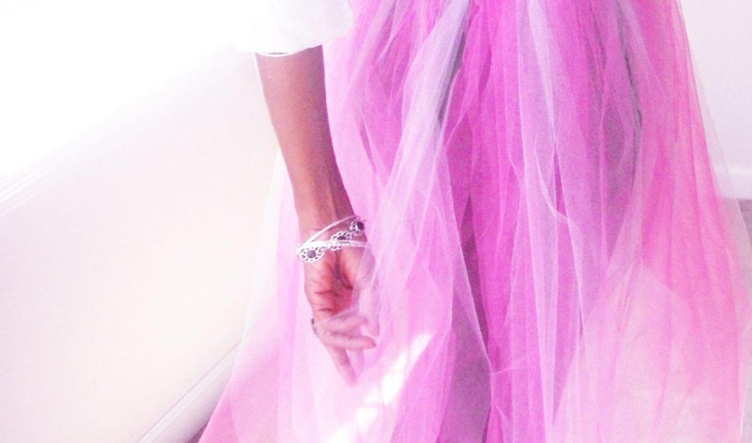 Pink DIY tulle skirt 1 cr