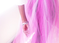 Pink DIY tulle skirt 1 cr
