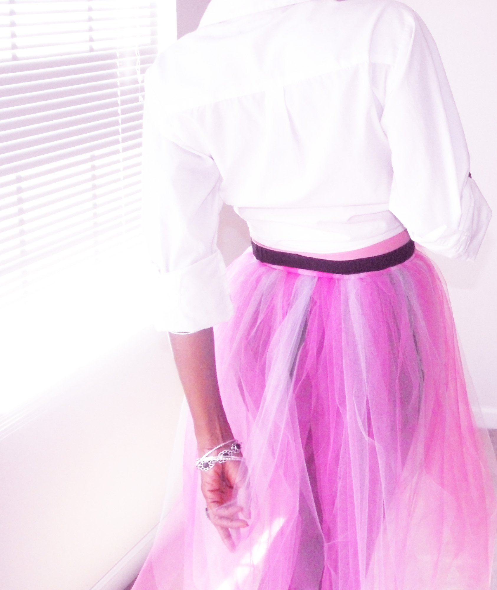 Pink DIY tulle skirt 1