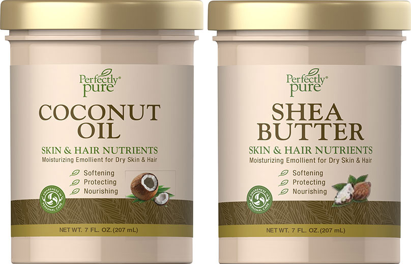Puritan's Pride Perfectly Pure coconut oil shea butter