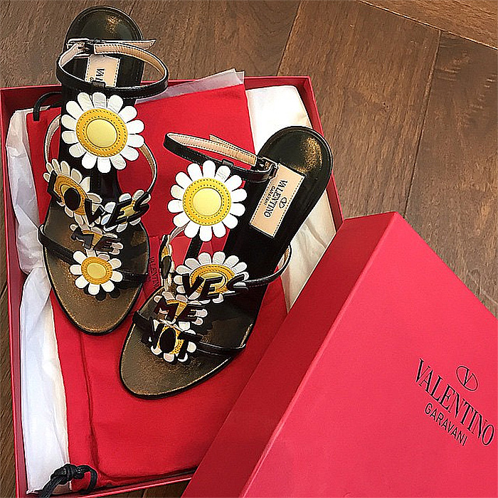 Valentino Loves Me sandals via my__closet__diaries on Instagram