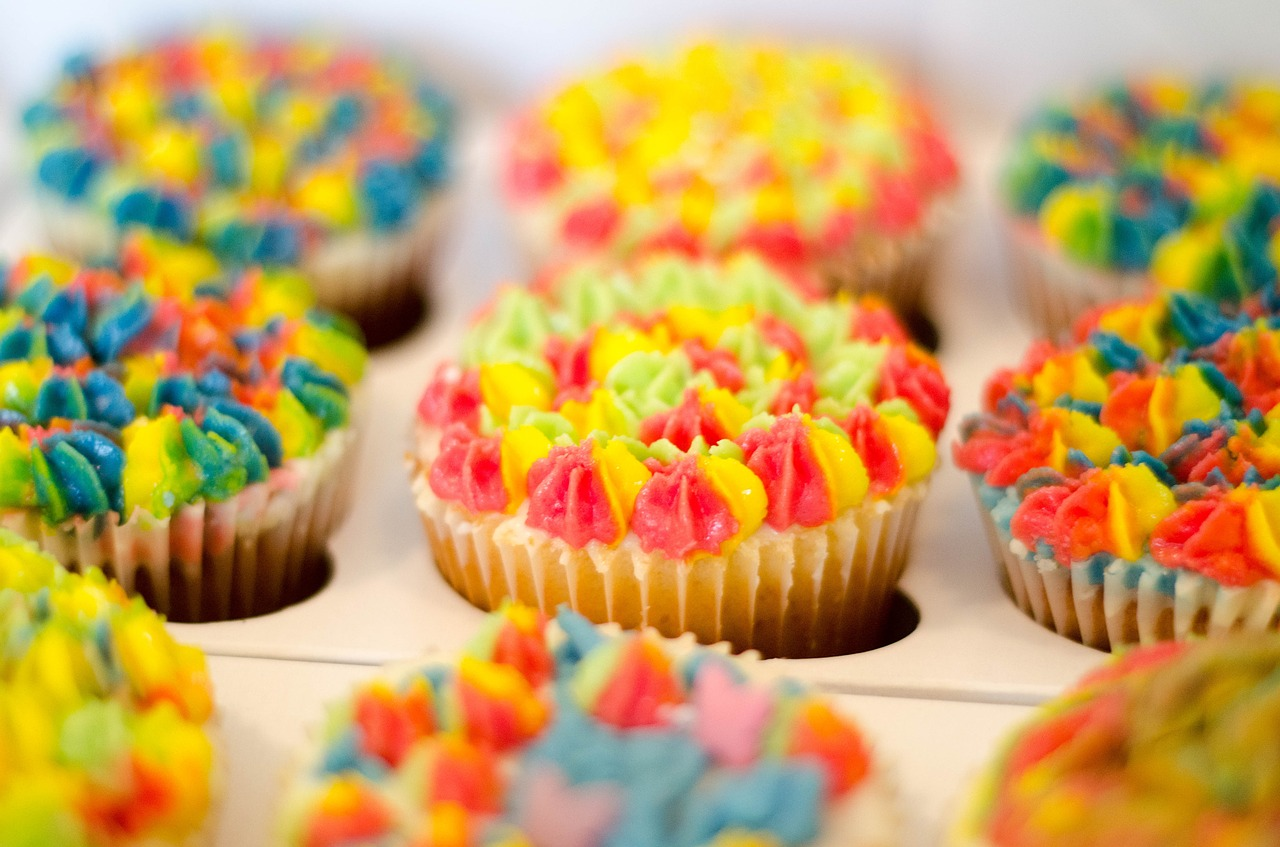 colorful cupcakes