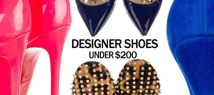 designer shoes under 200 dollars