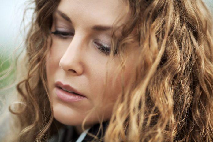 girl close-up sad face