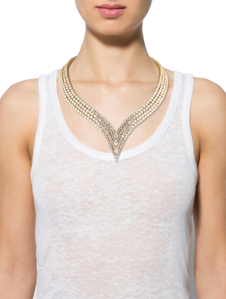 61.28ctw Cartier Diamond Necklace