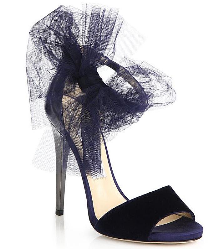 Black Jimmy Choo Lilyth Mixed-Media Bow Sandals