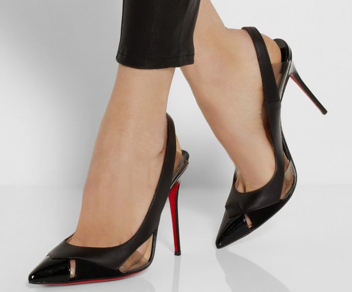 Christian Louboutin Air Chance 100 leather and suede pumps
