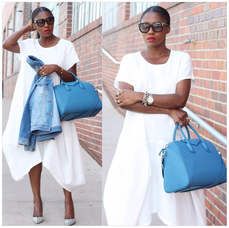 Ranti Onayemi Ranti In Review Blogspot white cotton Farrow Lisbon balloon dress Givenchy Antigona bag