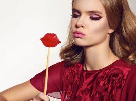 pretty girl burgundy dress
