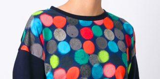 ARMANI JEANS Polka Dot Print Sweatshirt