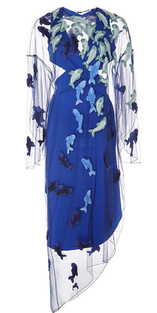 Alena Akhmadullina blue Embellished Overlay Dress