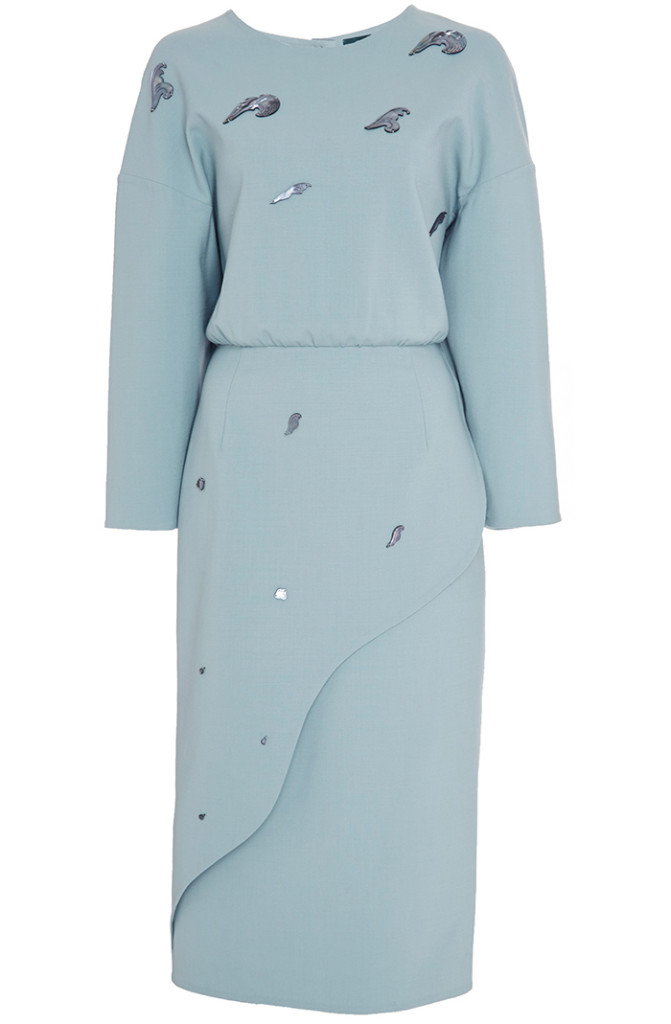 Alena Akhmadullina mint Midi Wrap Dress