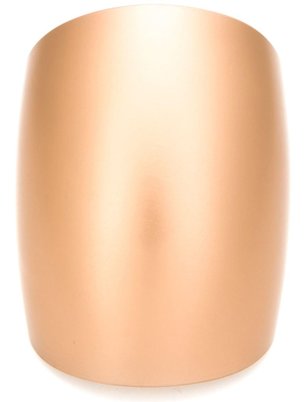 ISSEY MIYAKE metallic curved cuff