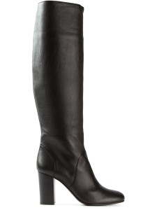 Lanvin black knee high boots
