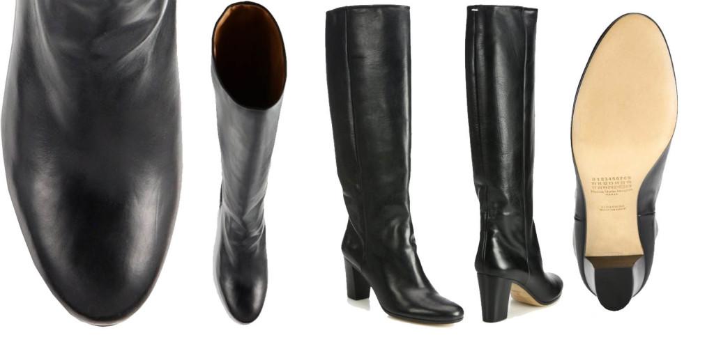 Maison Margiela black Leather Knee-High Boots