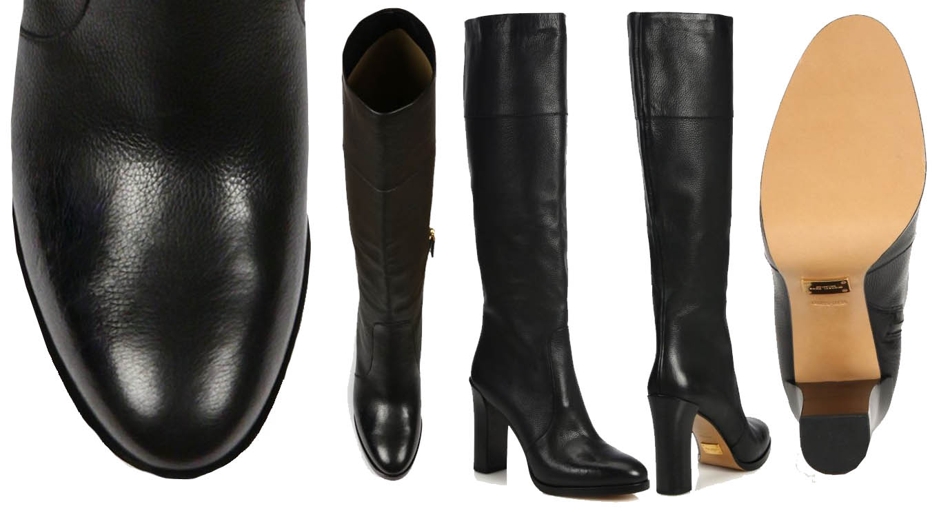 Michael Kors Daryl Leather Knee Boots