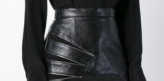 Saint Laurent zip detail pencil skirt