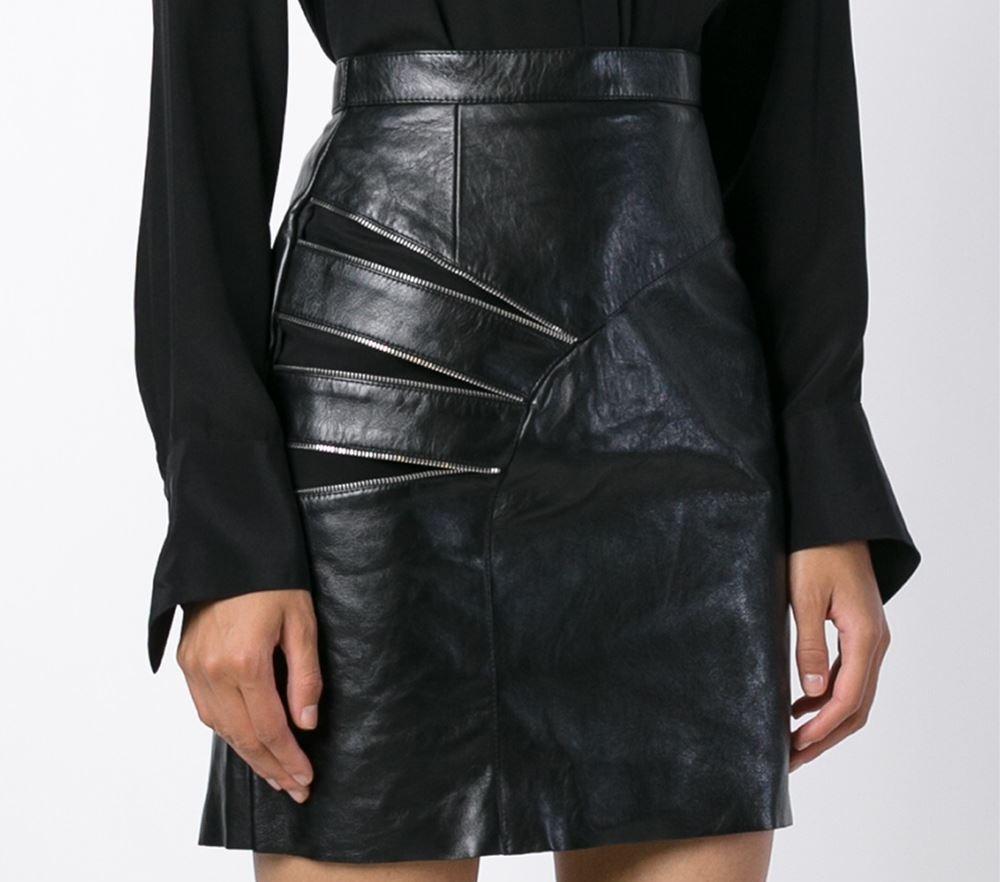 Saint Laurent zip detail pencil skirt