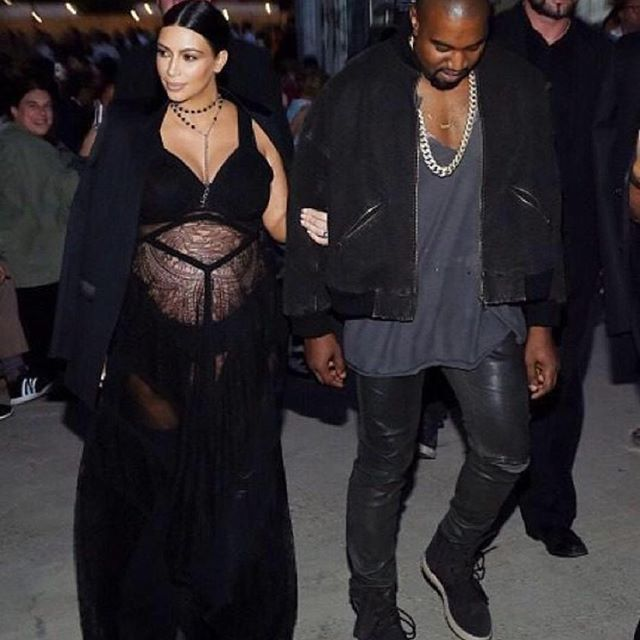 Kim Kardashian Kanye West New York Fashion Week Givenchy Show arrival