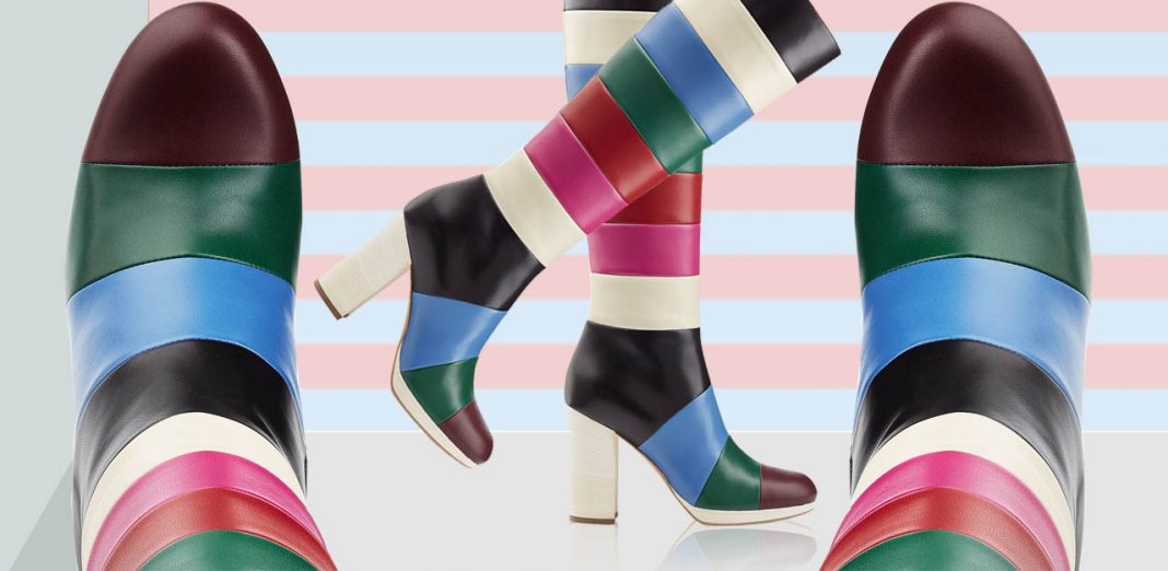 Valentino color block knee high boots outfit ideas how to wear