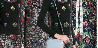 Valentino silk floral print pre fall 15 collection
