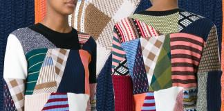 Chloe Multicoloured wool-silk patchwork sweater