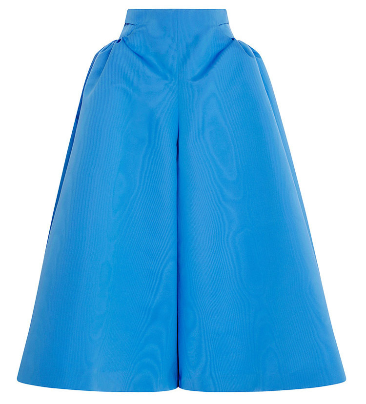 Delpozo mild blue Silk Moire Midi Pant