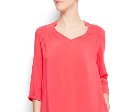 Fuchsia tunic blouse blouson Menta MANGO