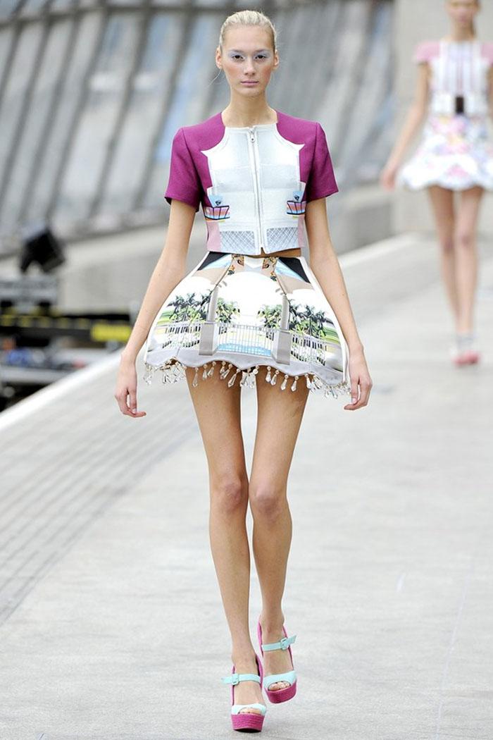 Mary Katrantzou lampshade skirt spring summer 2011