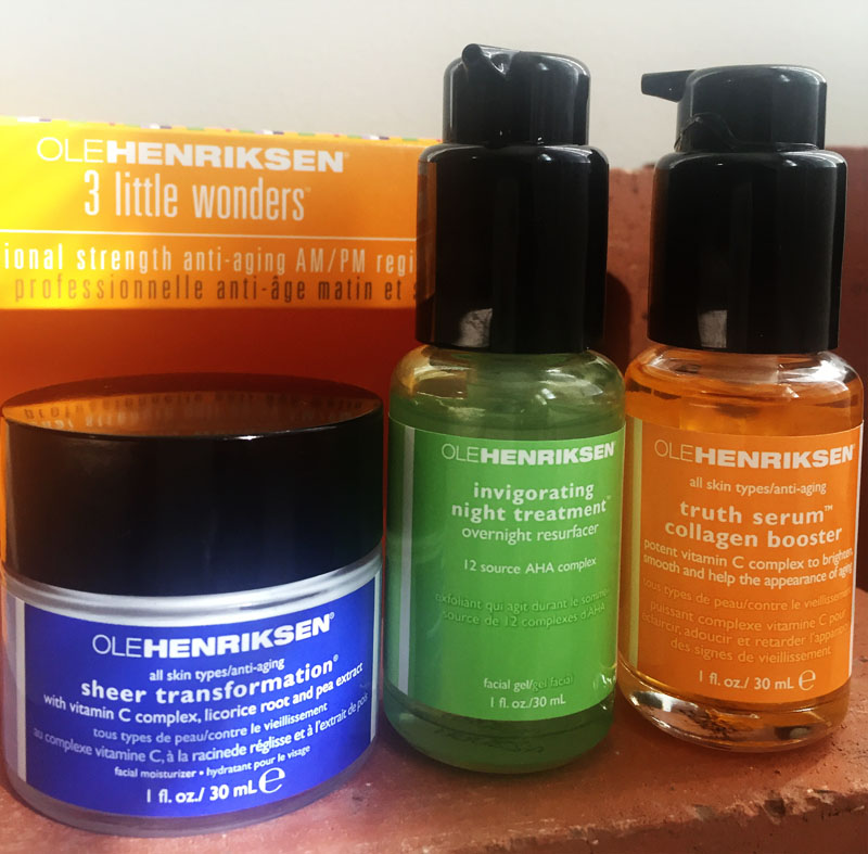 OLEHENRIKSEN 3 LITTLE WONDERS professional strength ANTI AGING creams serums