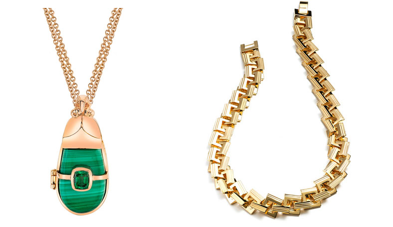 Fausto Puglisi skirt necklaces to accessorize