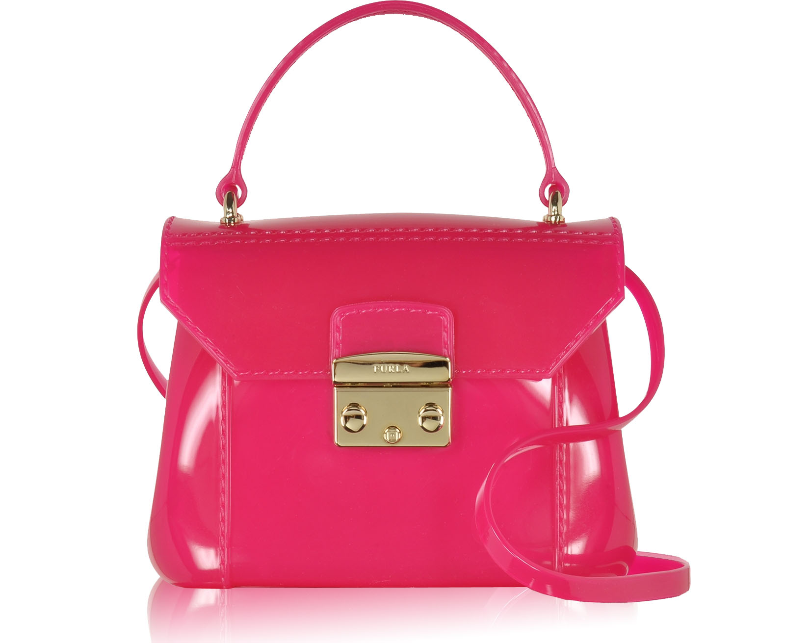 Furla Candy Gloss Bon Bon Mini Crossbody bag hot pink