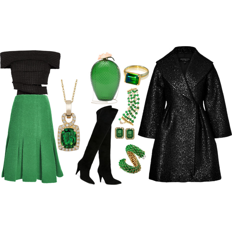 Green and black outfit ideas - My Fashion Wants