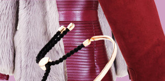 monica vinader fiju bracelet accessorize balmain burgundy leather dress copy