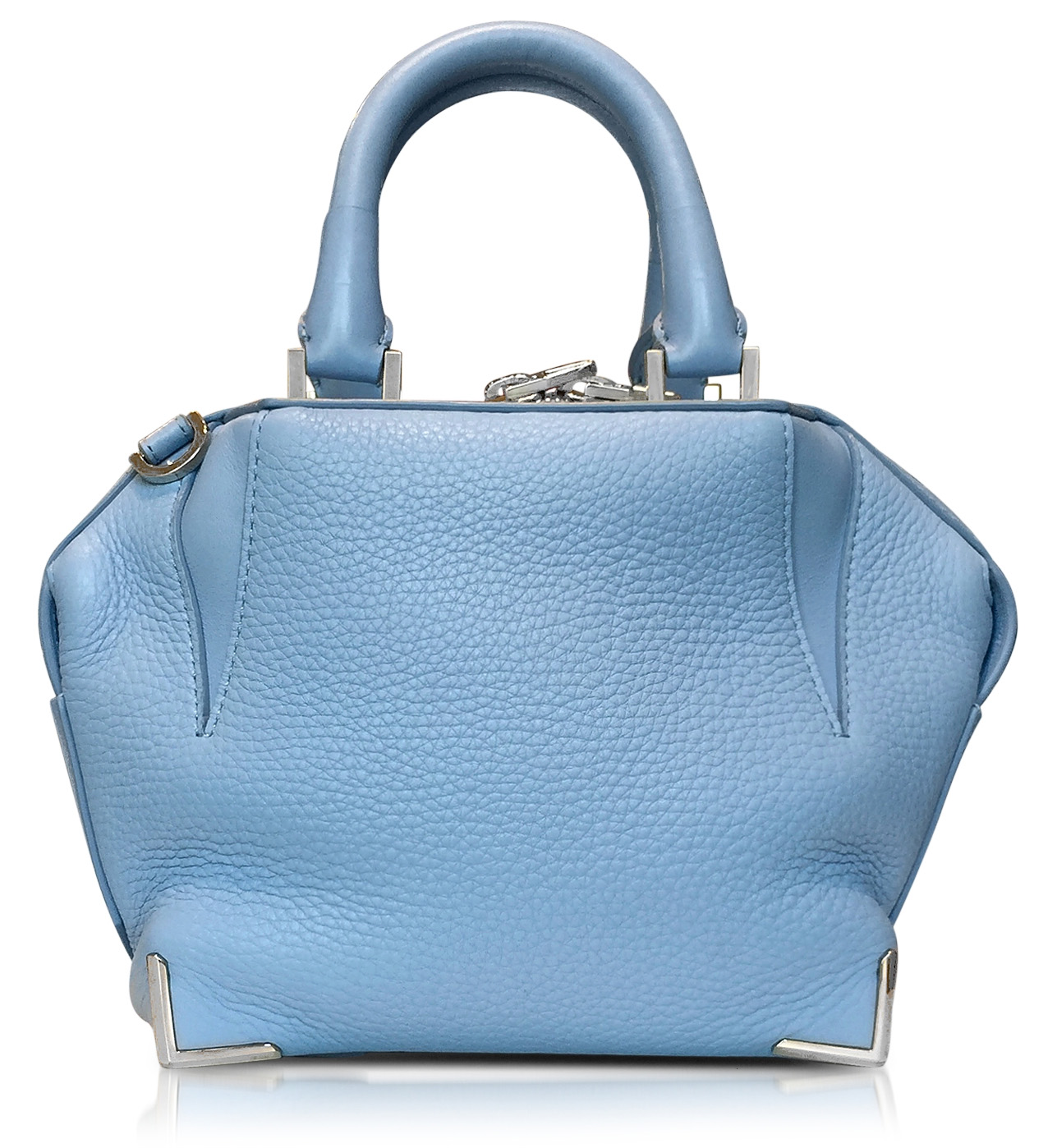 Designer handbags - Alexander Wang Light Blue Mini Emilie Atlas Soft Pebbled Leather Tote