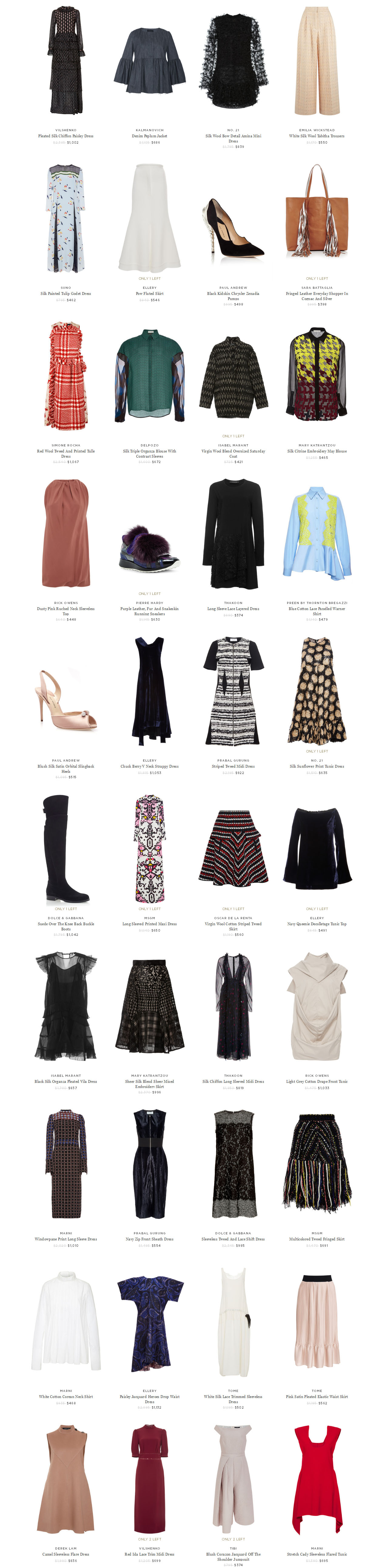 Big designer sale Moda Operandi 84 percent discount top designer brands