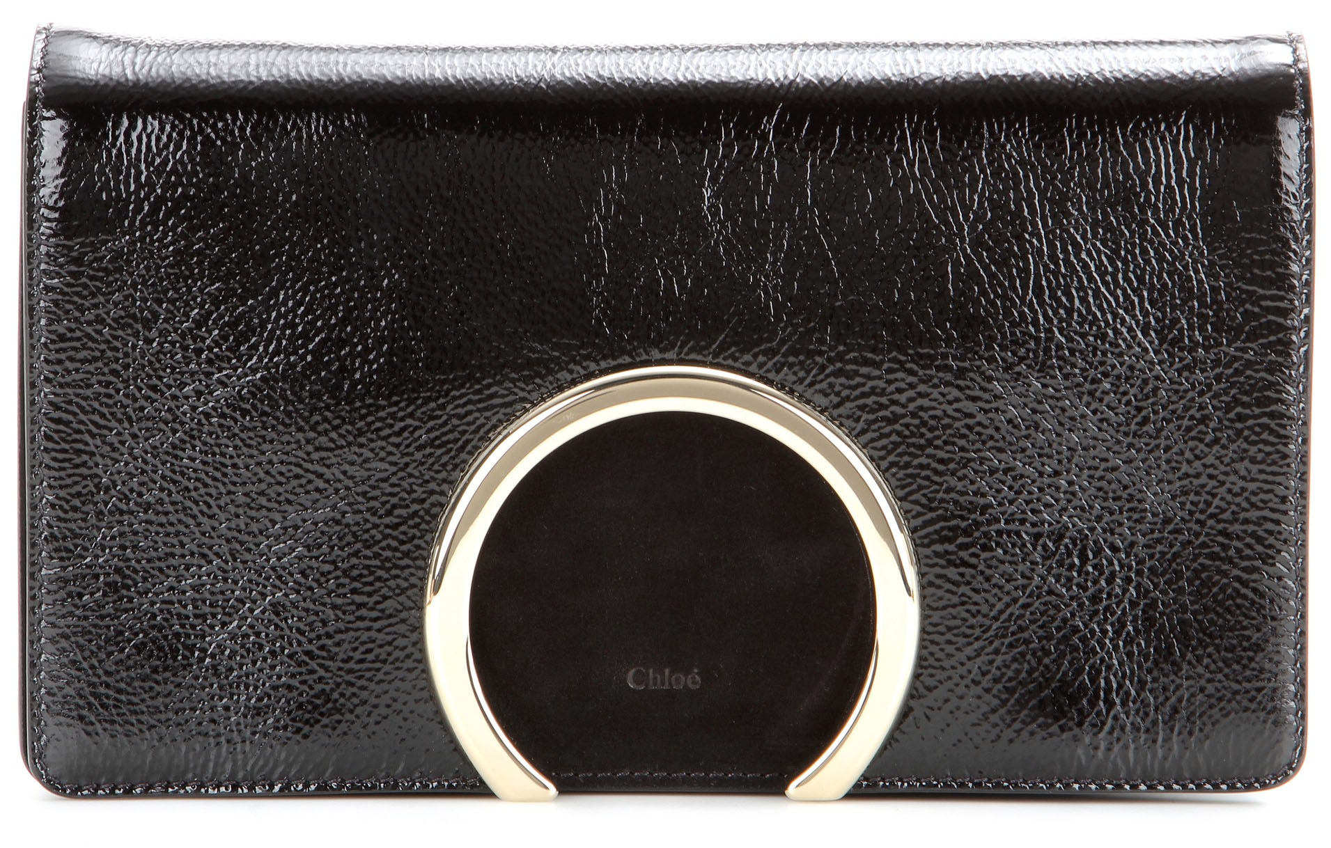 Chloe Gabrielle patent leather clutch