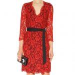 Diane von Furstenberg Julianna red lace dress