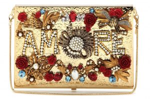 Dolce and Gabbana Virna Amore embellished box clutch with multicoloured jewel-inspired stones 7995 dollars